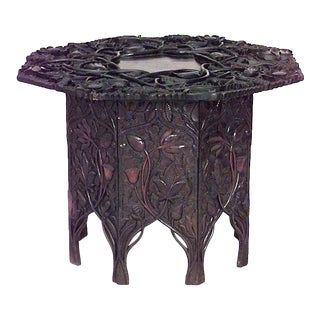 Early 20th Century Asian Chinese Rosewood Floral Table For Sale