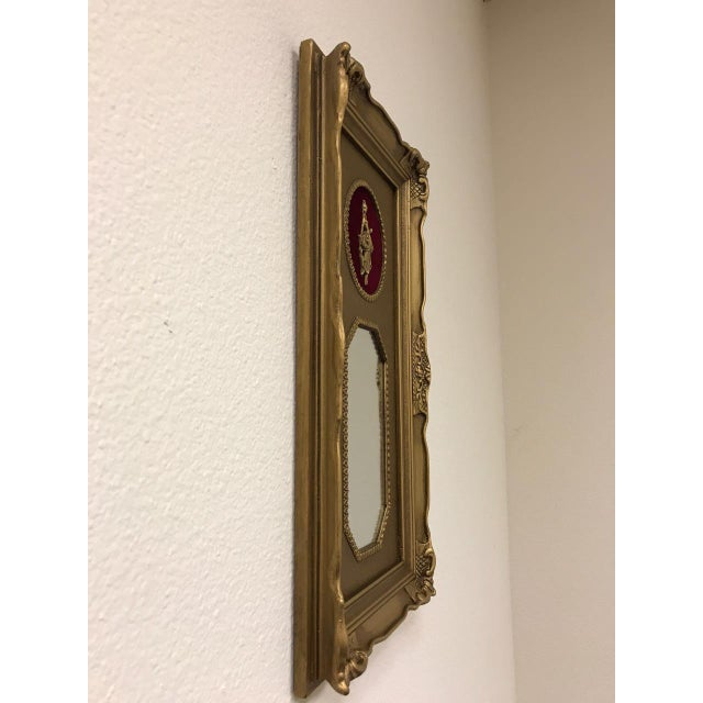 French Vintage Neoclassical Gold Gilded Frame Trumeau Mirror For Sale - Image 3 of 10