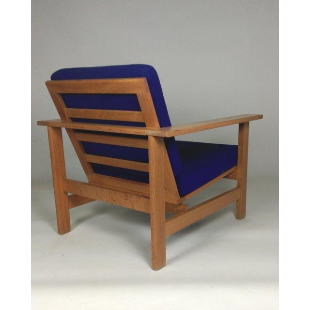 Wood 1980s Frederecia Furniture Soren Holst Danish Oak Lounge/Easy Chair For Sale - Image 7 of 10