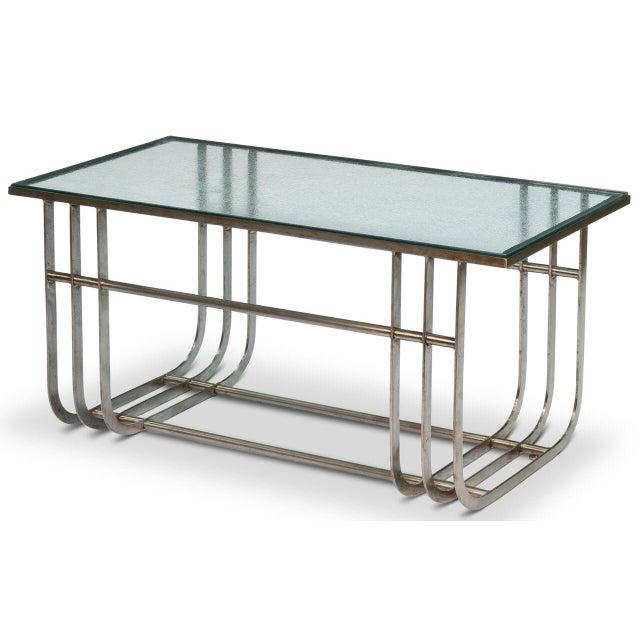 Sarreid LTD Donald Deskey Style Table - Image 4 of 9