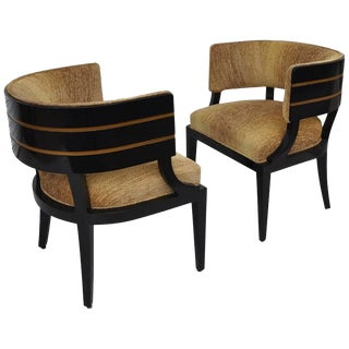 Pair of Art Deco Donald Desky Style French Lounge Chairs, 1940s For Sale