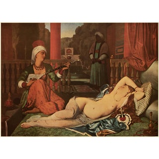 """1951 Ingres """"The Odalisque Listening to Music"""", First Edition Parisian Photogravure For Sale"""