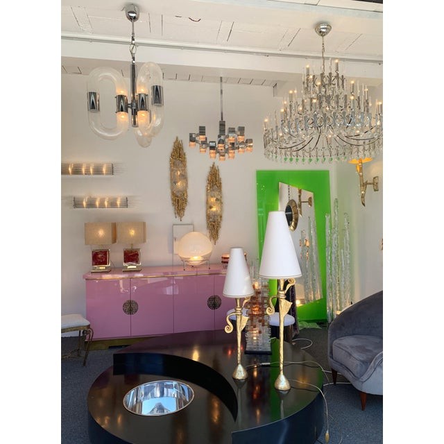 Chandelier Cubic by Sciolari, Italy, 1970s For Sale - Image 9 of 11