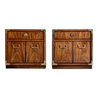 1970s Campaign Drexel Nightstands - a Pair For Sale