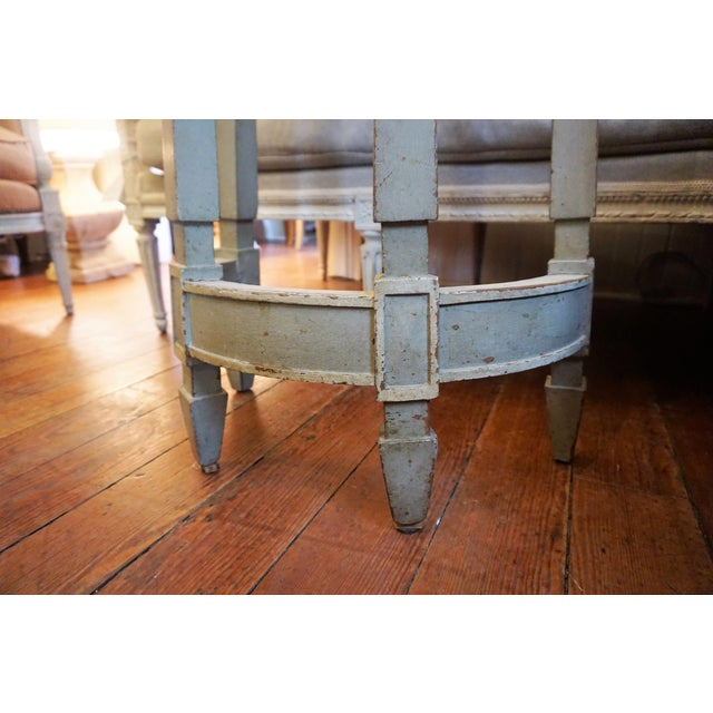 Mid 19th Century 19th Century Petite Shabby Chic Gray Wood Console For Sale - Image 5 of 8