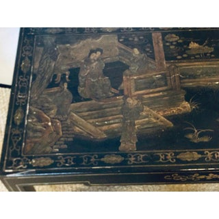 Antique Chinoiserie and Ebony Decorated Coffee Table Preview