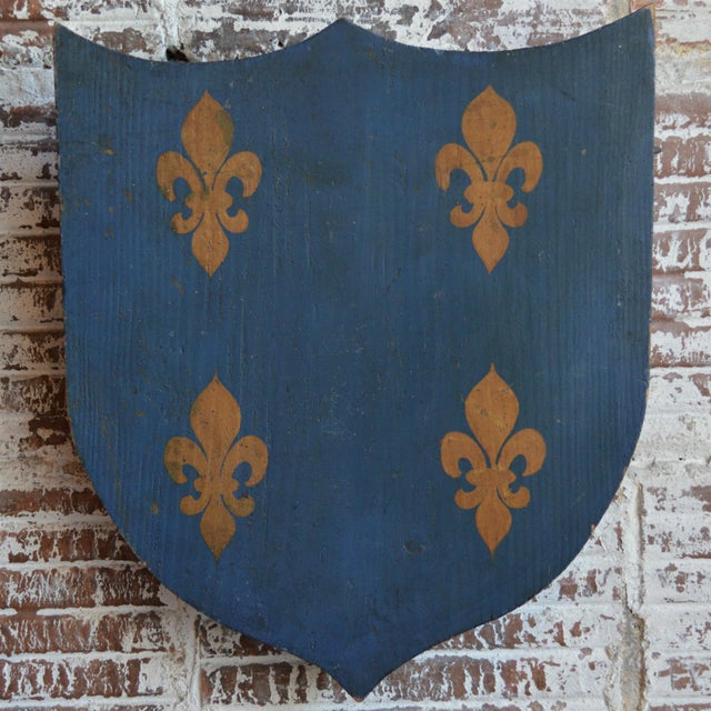 Vintage French Painted Family Shield For Sale - Image 13 of 13