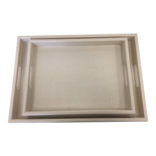 Linen Finish Voleta Trays - A Pair