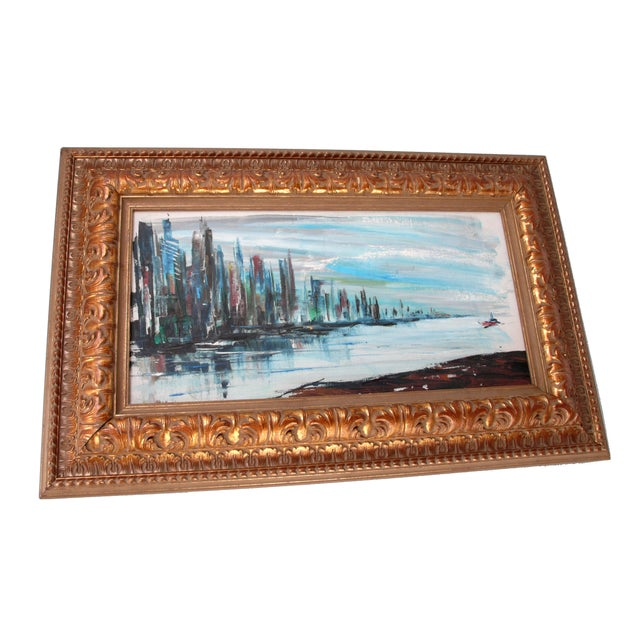 """Black Rod Rodgers Painting, """"East Side Skyline"""" For Sale - Image 8 of 8"""