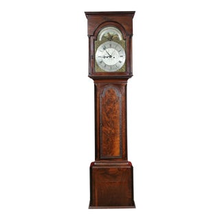 George III Mahogany Tall Case Clock For Sale