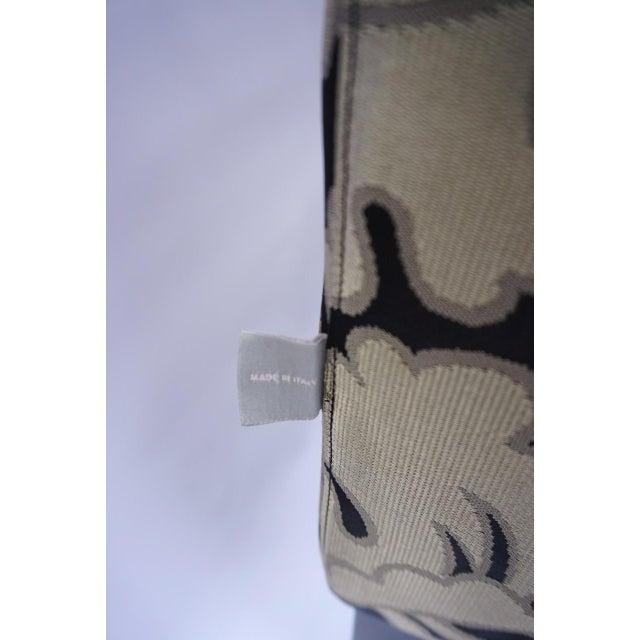 Armani Casa Silk Fig Leaf Tuxedo Sofa For Sale - Image 9 of 10