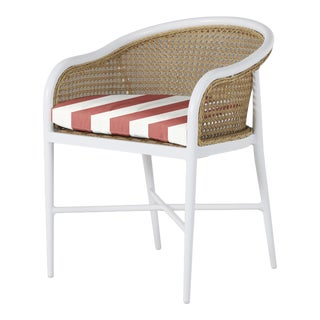 Havana Arm Chair in Bistro Stripe Flamingo