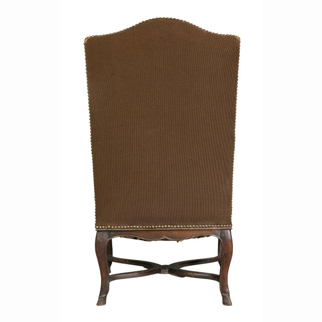 Regency Walnut and Tapestry Armchair For Sale - Image 11 of 12