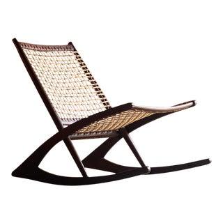1950s Frederik Kayser Model 599 Teak Rocking Chair For Sale
