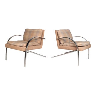Mid-Century Milo Baughman Style Lounge Chairs For Sale