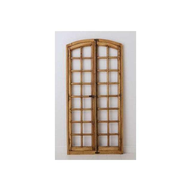 19th Century French Arched Double Doors in the Louis XV Provençal Style For Sale - Image 9 of 10