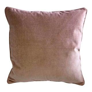 G P & J Baker Blush Velvet Accent Pillow Cover For Sale