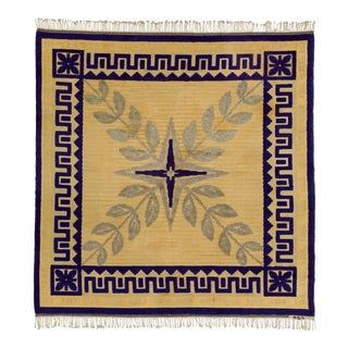 """Mid 20th Century Swedish Reliefflossa Rug - 8'5"""" X 8'7"""" For Sale"""