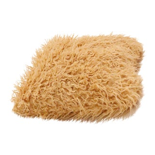 Contemporary Faux Fur Mongolian Shaggy Pillow For Sale