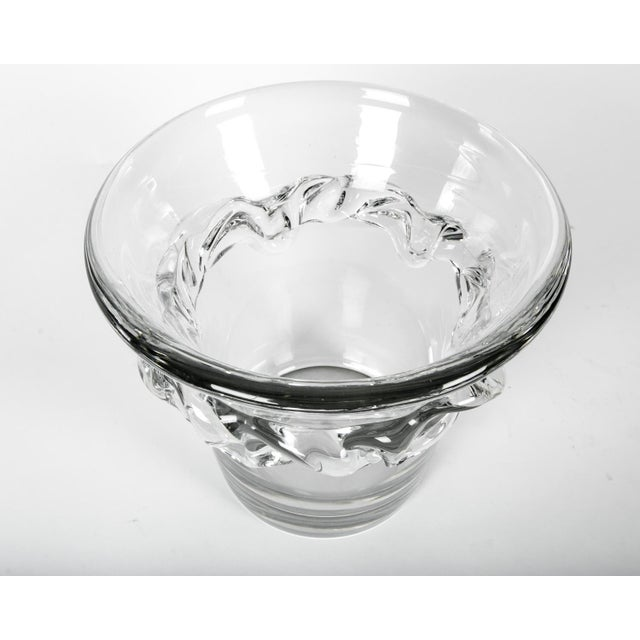 Contemporary Large French Daum Ice Bucket For Sale - Image 3 of 5