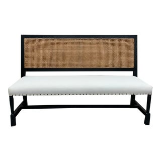 Caned Colonial Style Bench For Sale