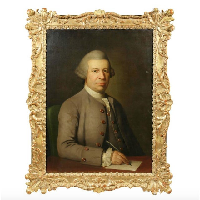 Green Georgian Portrait of a Gentleman in a Period Frame For Sale - Image 8 of 8