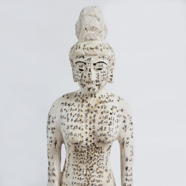 Asian Chinese Acupuncture X-Small Female Statue For Sale - Image 3 of 4