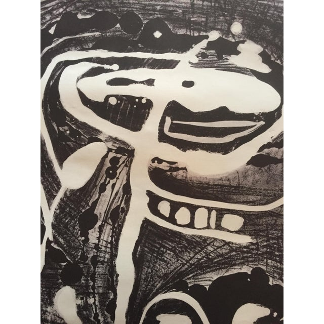 Mid Century Modern Abstract Stone Litho Jerry Opper For Sale In New York - Image 6 of 7
