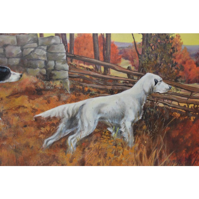 """John Lawrence Murray """"The Hunt"""" Original Oil Painting C.1941 For Sale In San Francisco - Image 6 of 9"""
