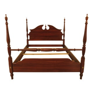 1990s Ethan Allen Knob Creek Queen Size Cherry Poster Bed For Sale