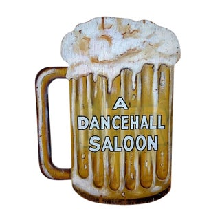 1960s Americana Dancehall Saloon Sign For Sale
