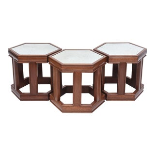 Mahogany and Mirrored Occasional Tables For Sale
