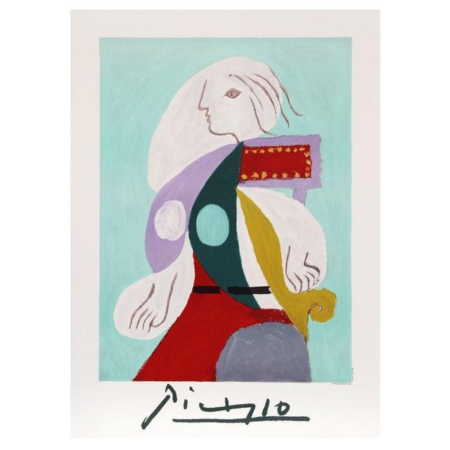 Pablo Picasso - Femme a La Robe Multicolore Litho - Image 1 of 2