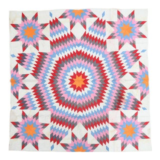 Contemporary Geometric Textile Quilt For Sale