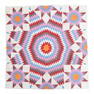Contemporary Geometric Textile Quilt For Sale