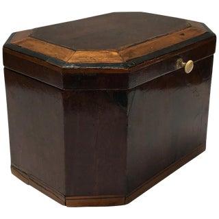 1790s English Inlaid Mahogany Box For Sale