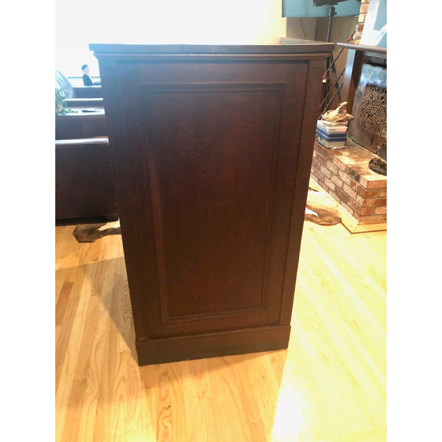 Antique Oak San Francisco City Tax Filing Cabinet For Sale In San Francisco - Image 6 of 11