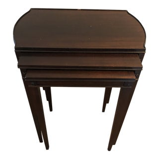 Antique Art Deco Nesting Mahogany Tables - Set of 3 For Sale