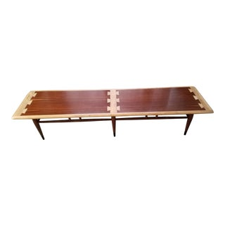Lane Acclaim Dovetailed Walnut & Ash Coffee Table For Sale