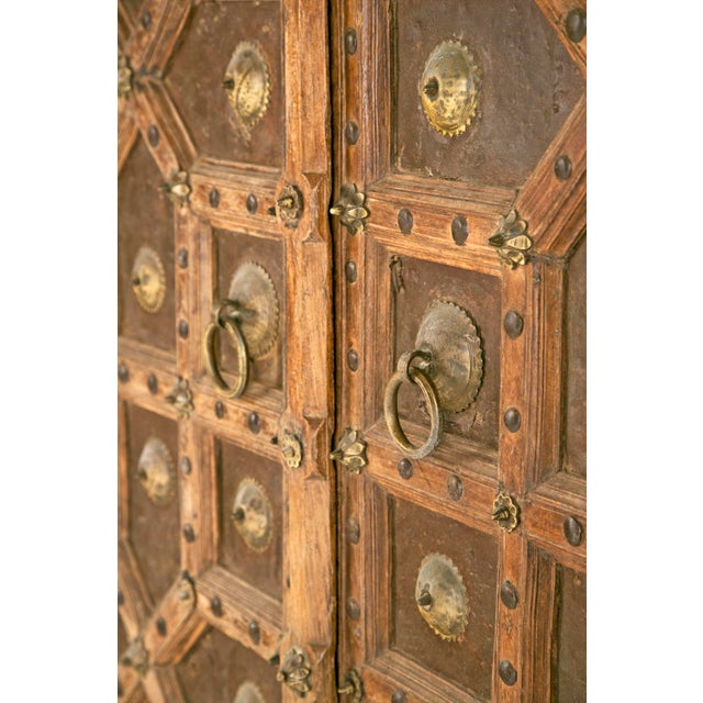 Metal Antique African Doors - A Pair For Sale - Image 7 of 12