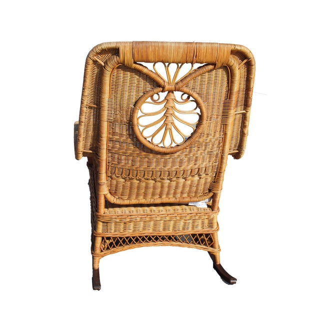 2000 - 2009 Ralph Lauren Rocking Chair & Foot Stool For Sale - Image 5 of 13