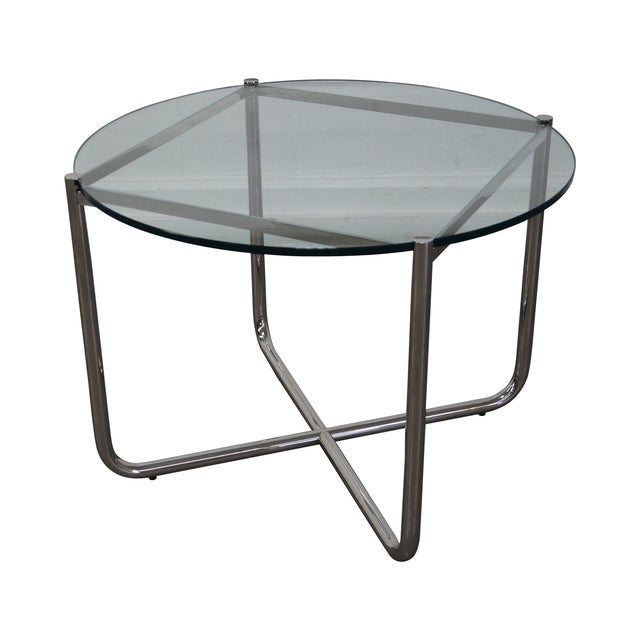 Mies Van Der Rohe Glass Chrome Mr Table By Knoll Chairish
