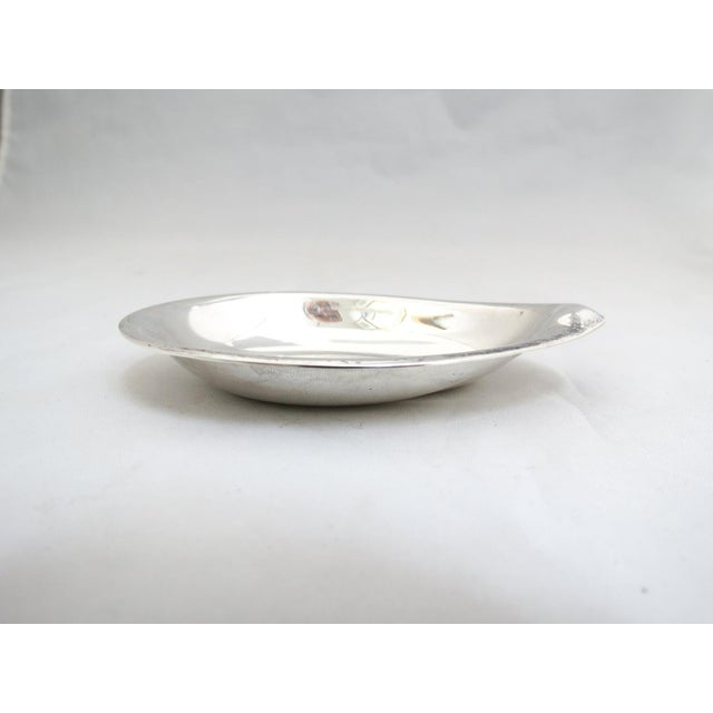 Reed & Barton Vintage Reed & Barton Sterling Art Nouveau Scultural Nut/Butter Dishes - Set of 6 For Sale - Image 4 of 6