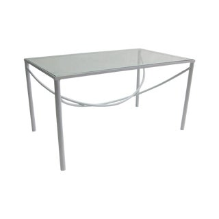 White Lacquer & Bent Steel Coffee Table