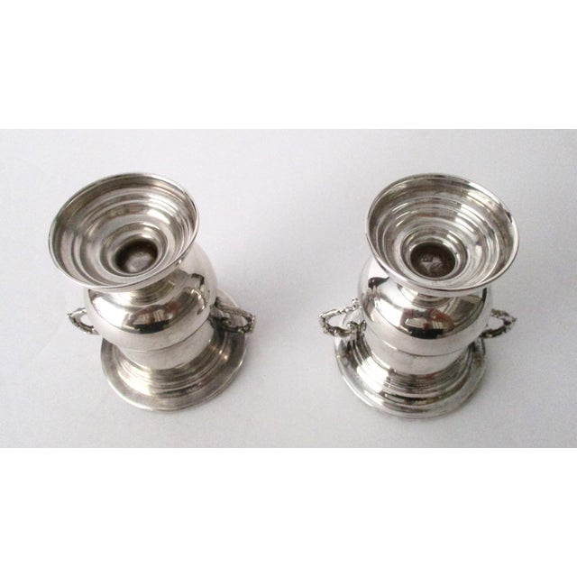 Traditional Antique 900 Silver Mini-Urns - A Pair - Image 5 of 6