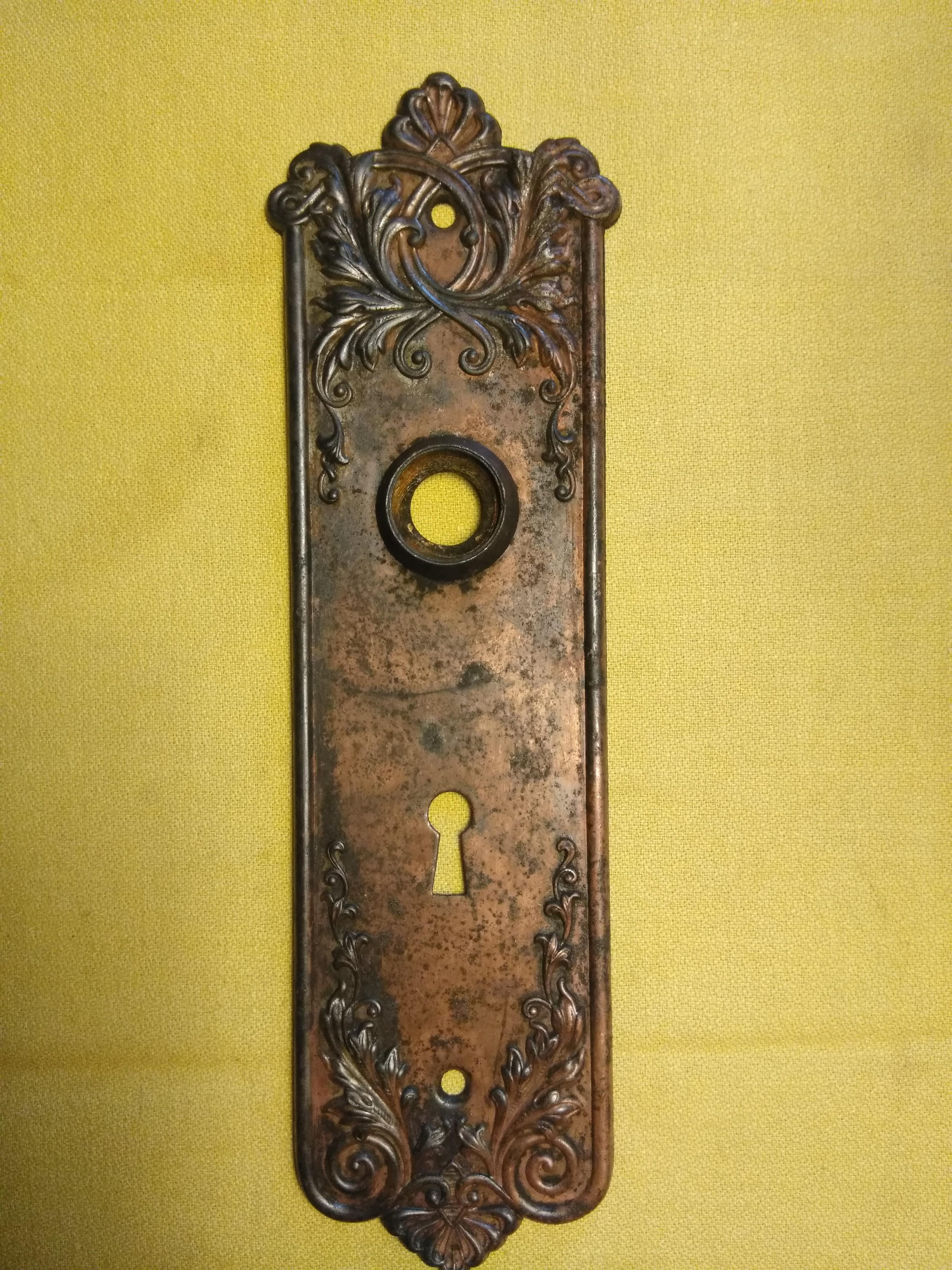 Vintage Victorian Door Plate - Image 3 of 3  sc 1 st  Chairish & Vintage Victorian Door Plate | Chairish