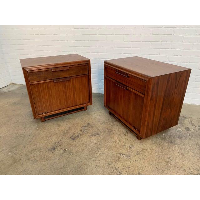 John Keal for Brown Saltman Walnut Nightstands For Sale - Image 11 of 13