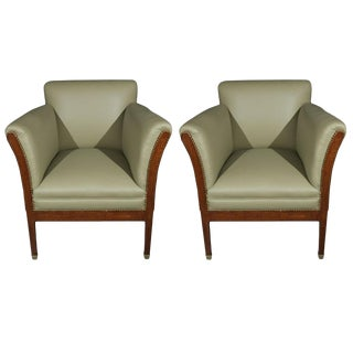 Vienna Secessionist Influenced Chairs - a Pair For Sale