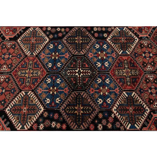 Brown Vintage Bakhtiari Wool Rug 4'4'' X 7'2'' For Sale - Image 8 of 12