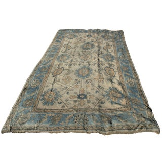 Mid-Century Turkish Oushak Rug - 7′2″ × 11′2″ For Sale